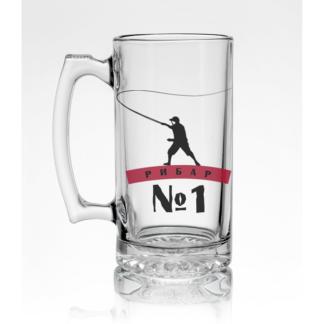Стъклена халба за бира – РИБАР №1