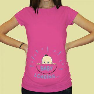 Дамска тениска с щампа за бременни – 61
