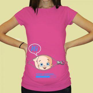 Дамска тениска с щампа за бременни – 62