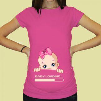 Дамска тениска с щампа за бременни – 63