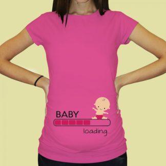 Дамска тениска с щампа за бременни – 65