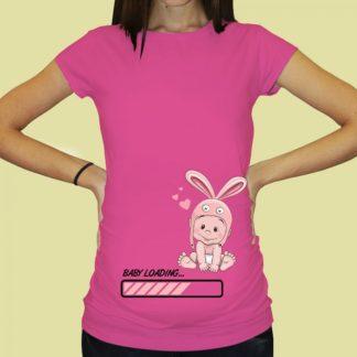 Дамска тениска с щампа за бременни – 66