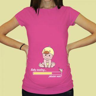 Дамска тениска с щампа за бременни – 67