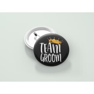 Значка за ергенско парти – TEAM GROOM CROWN