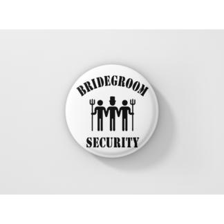 Значки за ергенско парти – BRIDE GROOM SECURITY