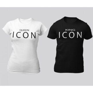 Тениски за влюбени – KING&QUEEN ICON