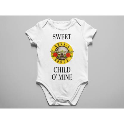 Бебешко боди с щампа-SWEET CHILDO MINE