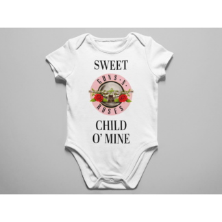 Бебешко боди с щампа-SWEET CHILDO MINE PINK