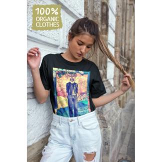 Унисекс тениска с дизайнерски принт - LIONESS