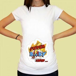 Дамска тениска с щампа за бременни-69