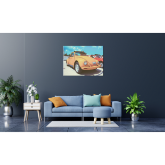 ORANGE RETRO BEETLE