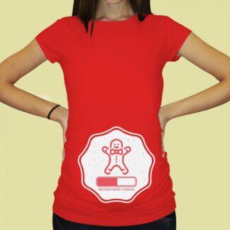 Дамска тениска с щампа за бременни – 72