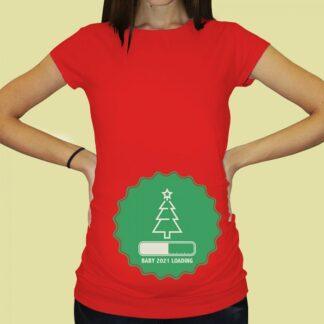 Дамска тениска с щампа за бременни – 73