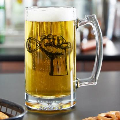 Стъклена халба за бира – БИРЕН БРАТ#1