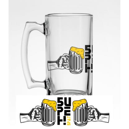 Стъклена халба за бира – БИРЕН БРАТ#2