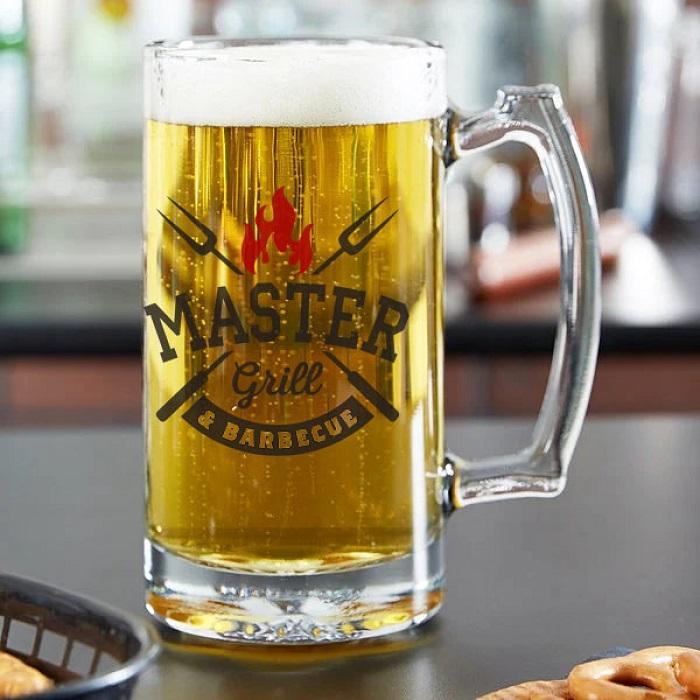 Стъклена халба за бира-GRILL MASTER
