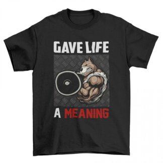 Мъжка фитнес тениска-A MEANING