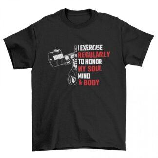 Мъжка фитнес тениска-I EXERCISE