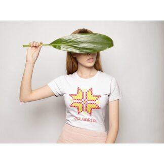 Дамска тениска с етно мотиви-22