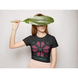 Дамска тениска с етно мотиви-28