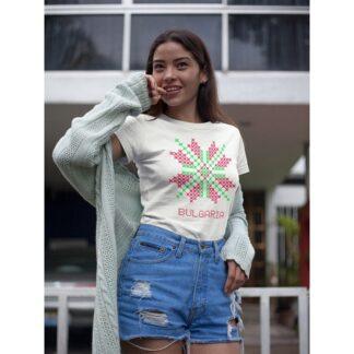 Дамска тениска с етно мотиви-30