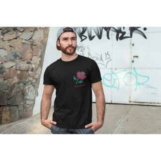 Мъжка тениска с етно мотиви БЪЛГАРСКА РОЗА