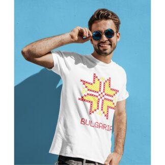 Мъжка тениска с етно мотиви-21