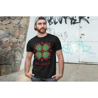 Мъжка тениска с етно мотиви-23