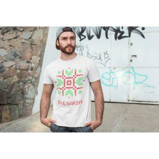 Мъжка тениска с етно мотиви-25
